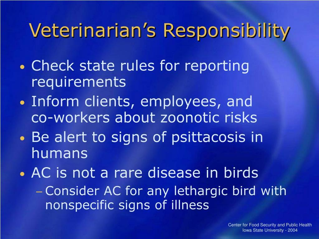 Veterinarian's Responsibility