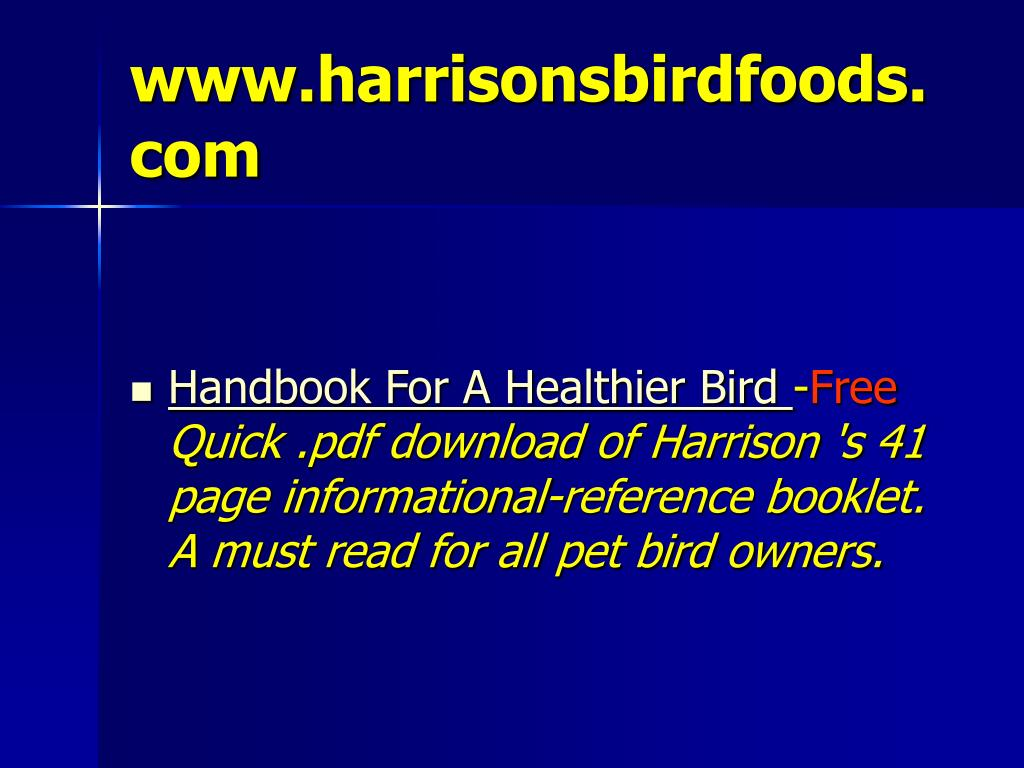www.harrisonsbirdfoods.com