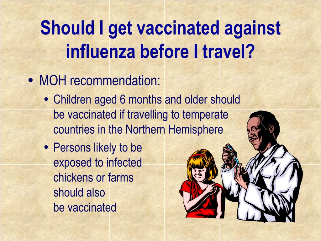 Should I get vaccinated against influenza before I travel?