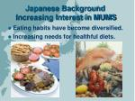 japanese background increasing interest in mums