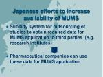 japanese efforts to increase availability of mums