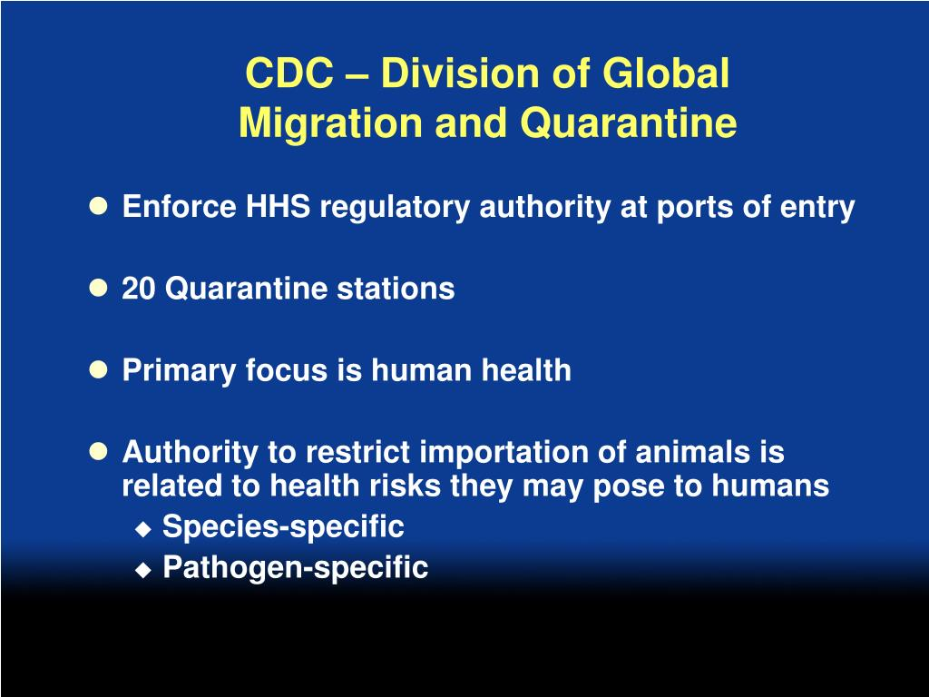 CDC – Division of Global Migration and Quarantine