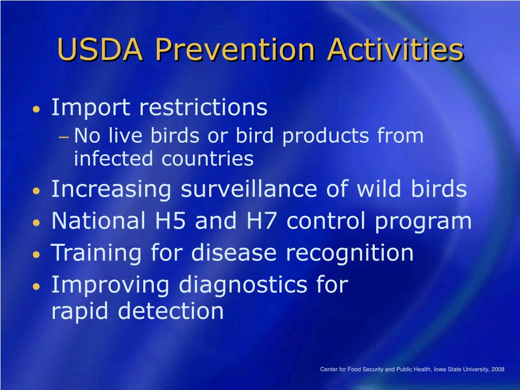 USDA Prevention Activities