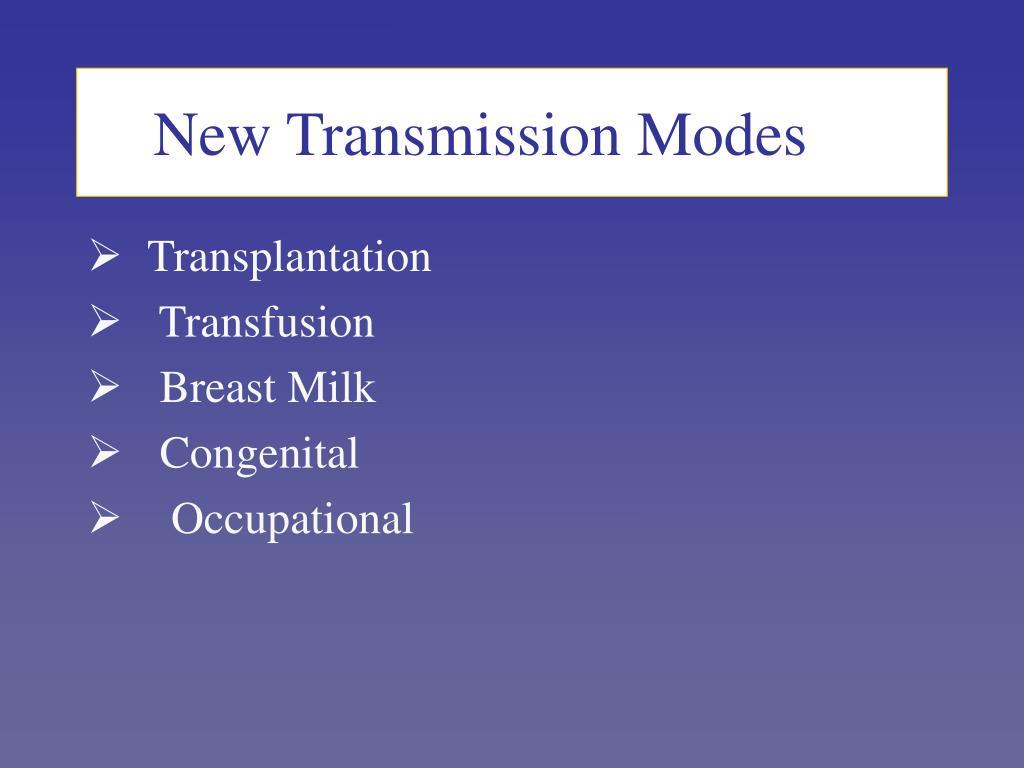 New Transmission Modes