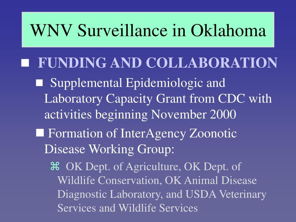 WNV Surveillance in Oklahoma