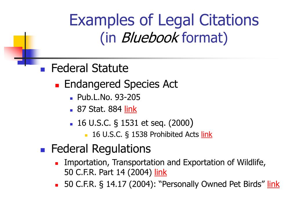 Examples of Legal Citations