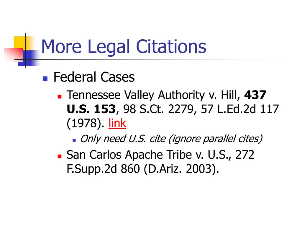 More Legal Citations