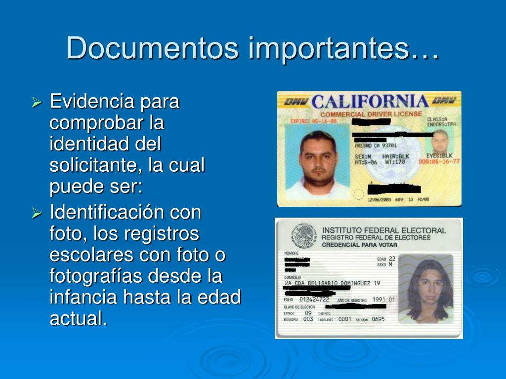 Documentos importantes…