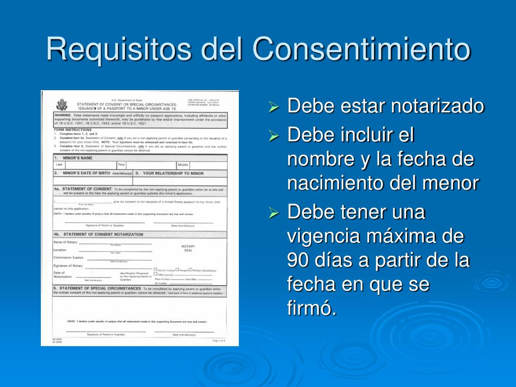 Requisitos del Consentimiento
