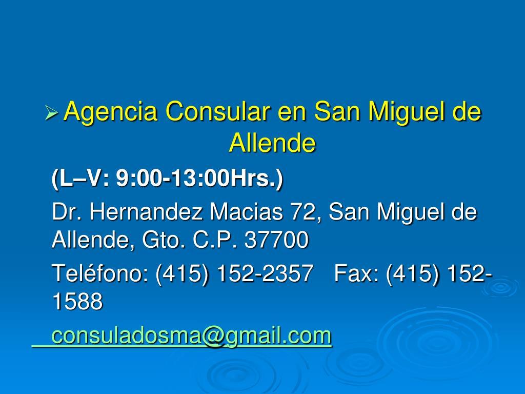 Agencia Consular en San Miguel de