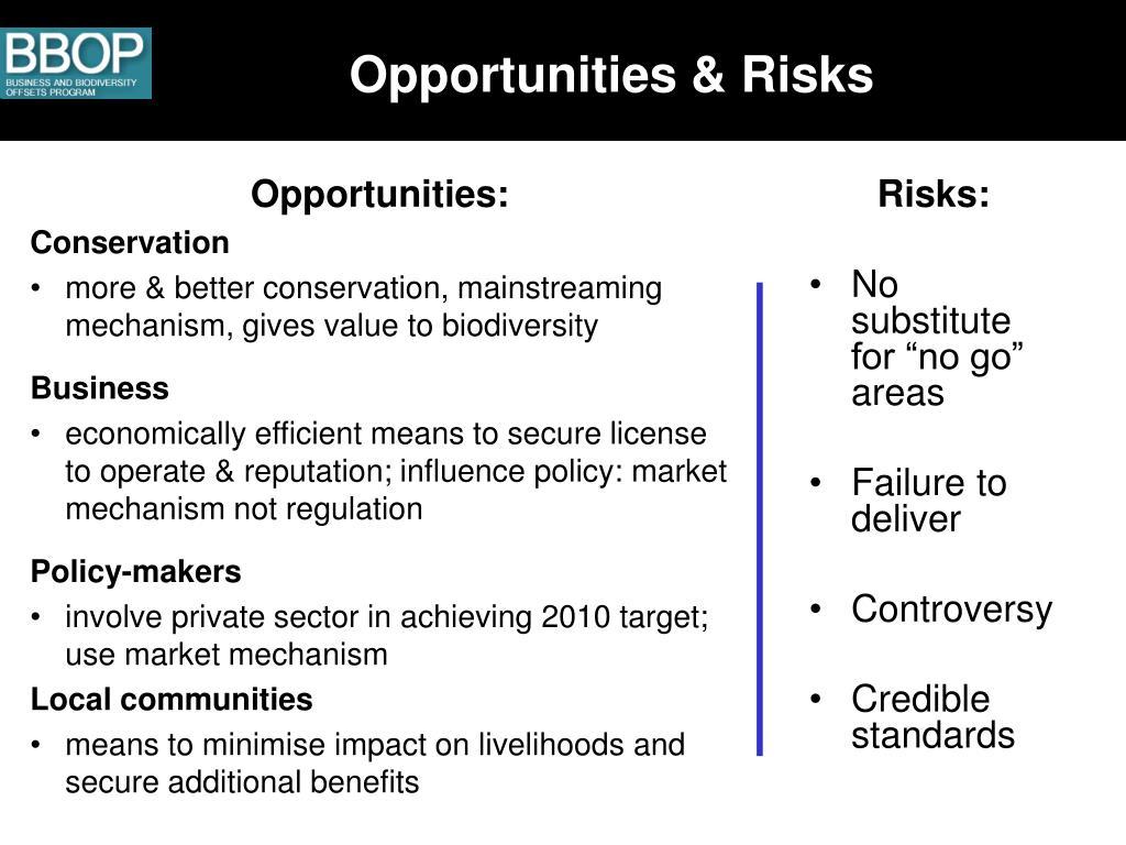 Opportunities & Risks