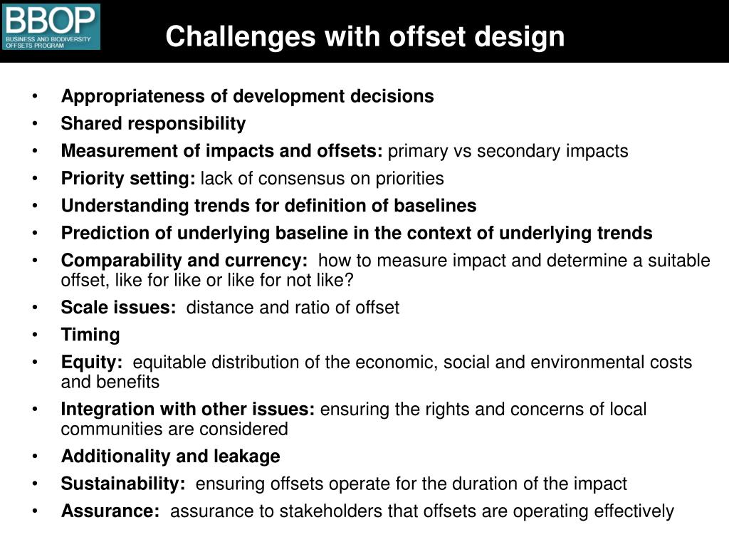 Challenges with offset design