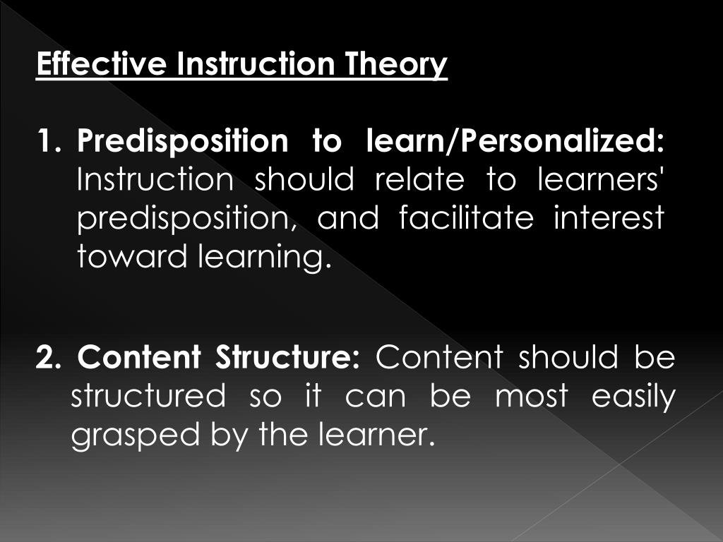 Effective Instruction Theory