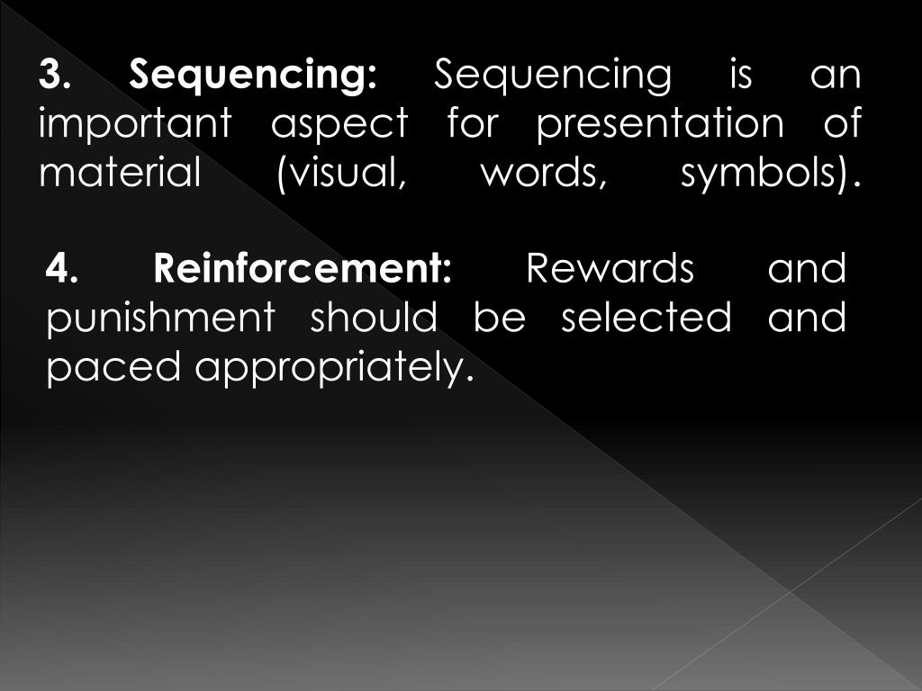 3. Sequencing: