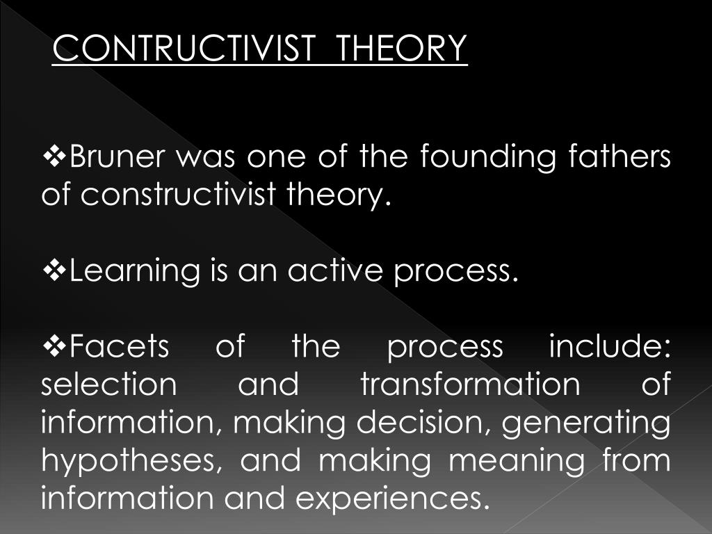 CONTRUCTIVIST  THEORY