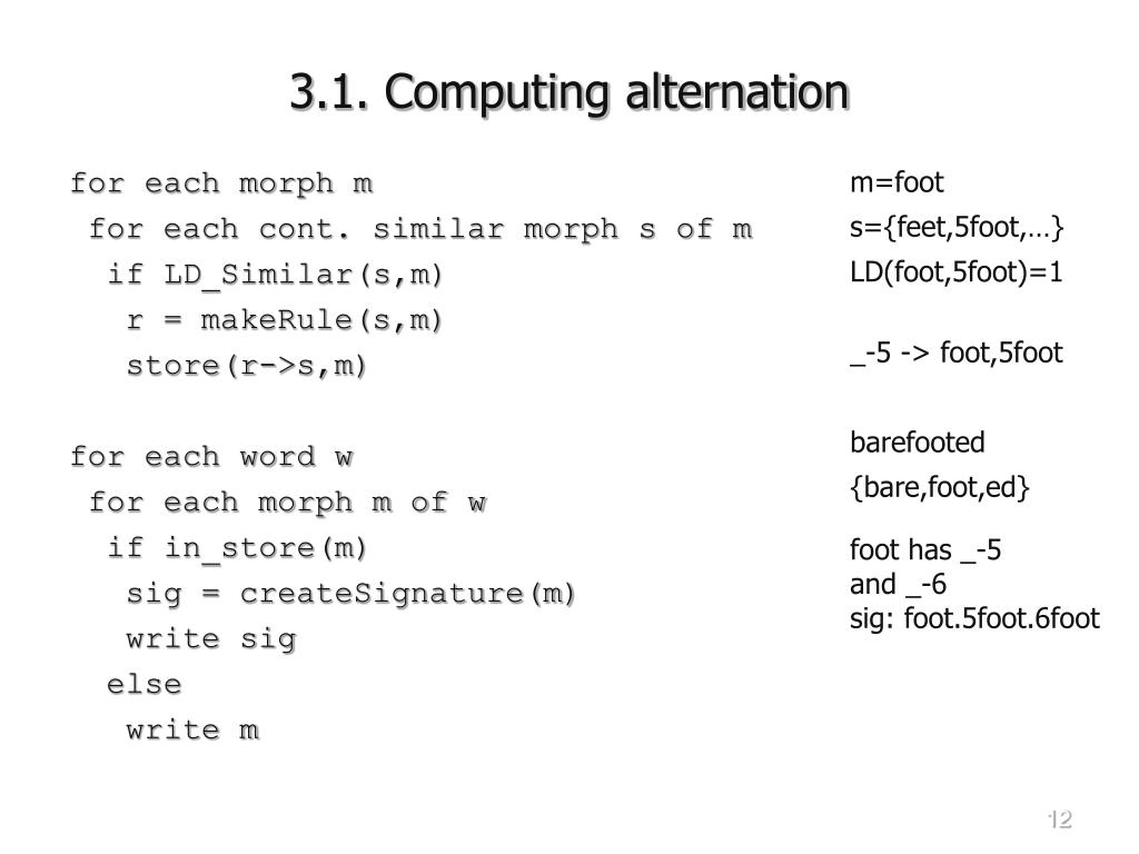 3.1. Computing alternation