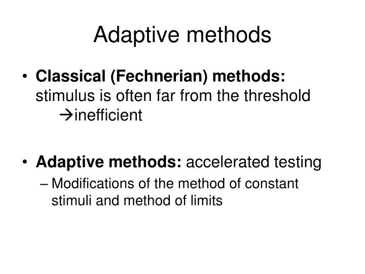 Adaptive methods2