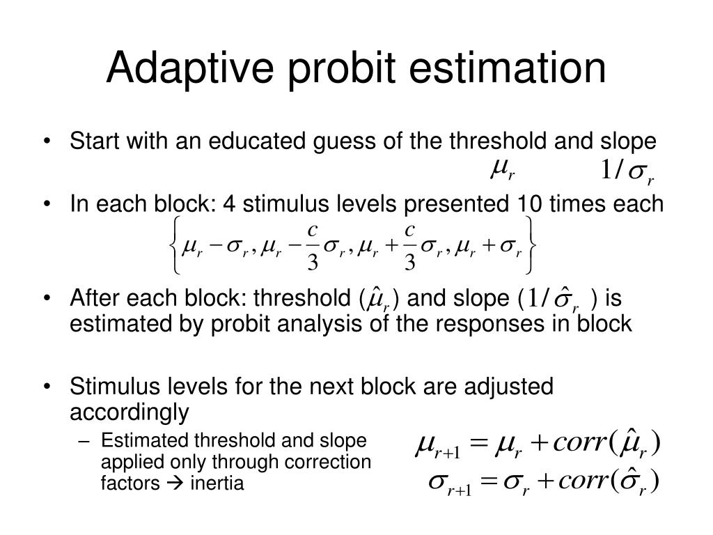 Adaptive probit estimation