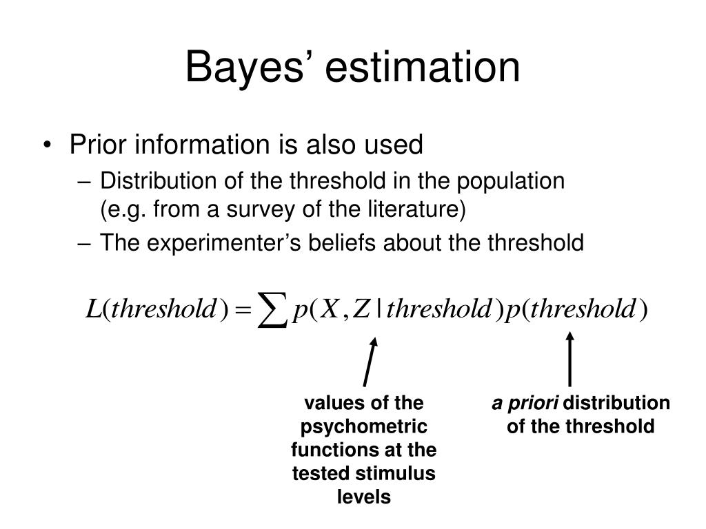 Bayes' estimation