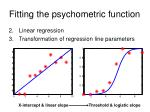fitting the psychometric function24
