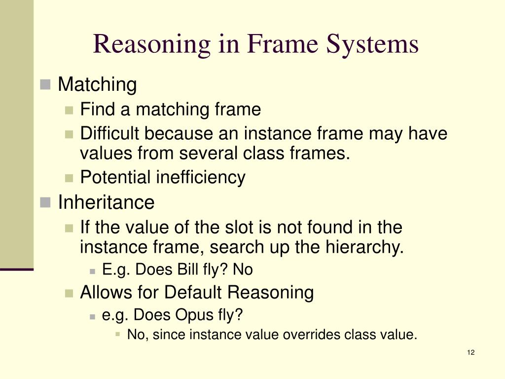 Reasoning in Frame Systems