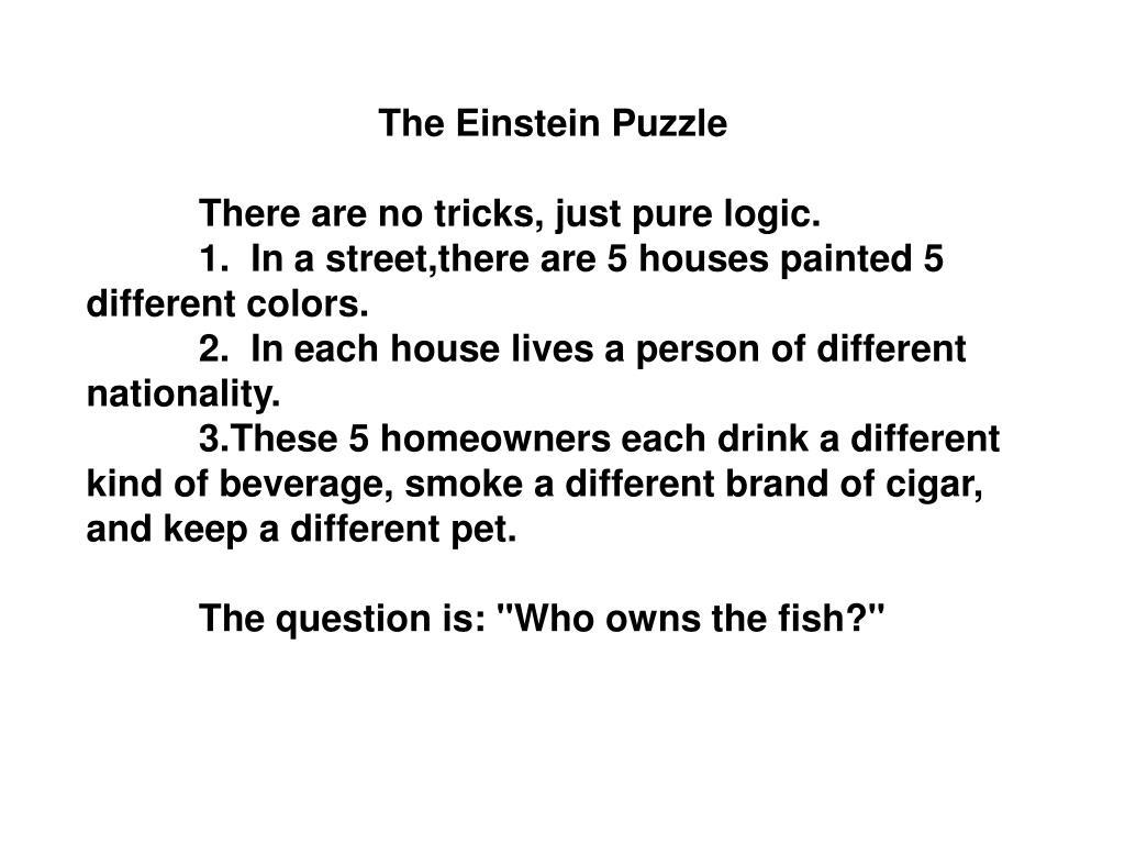The Einstein Puzzle