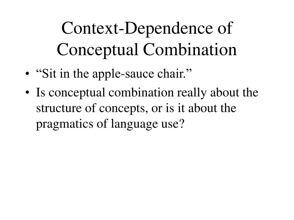 Context-Dependence of Conceptual Combination