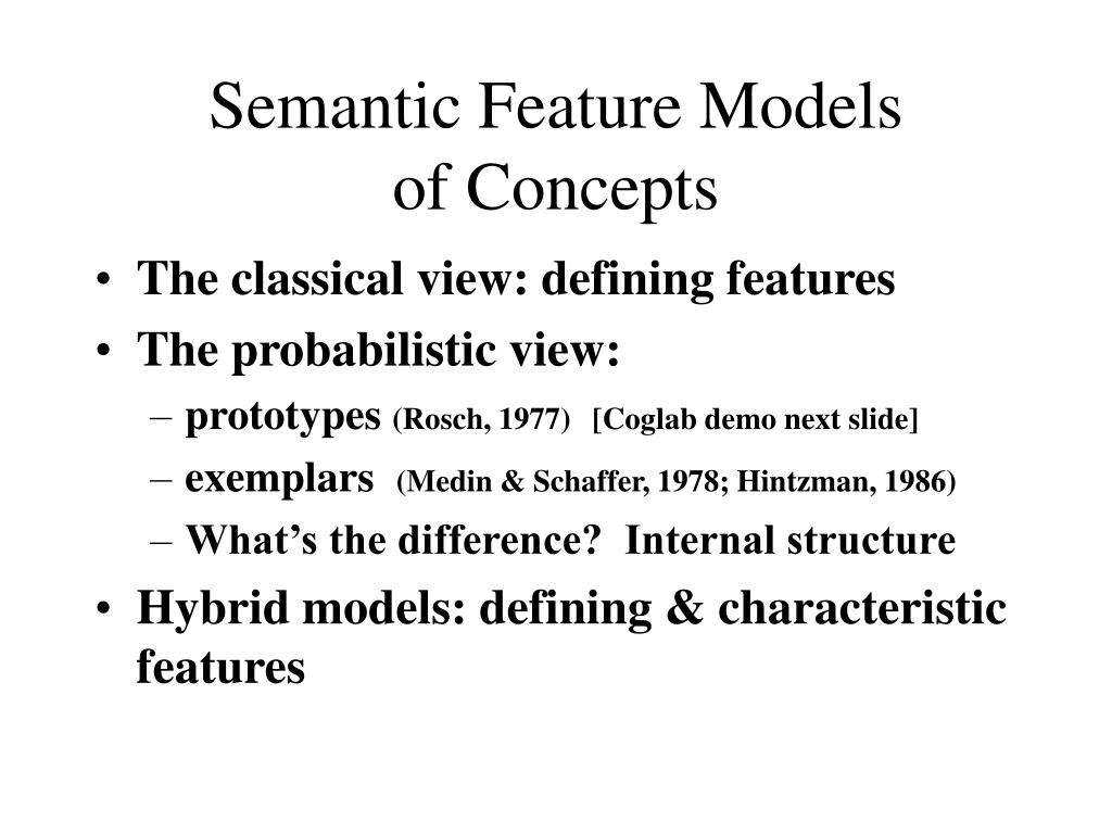 Semantic Feature Models