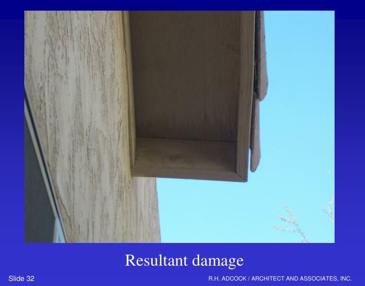 Resultant damage