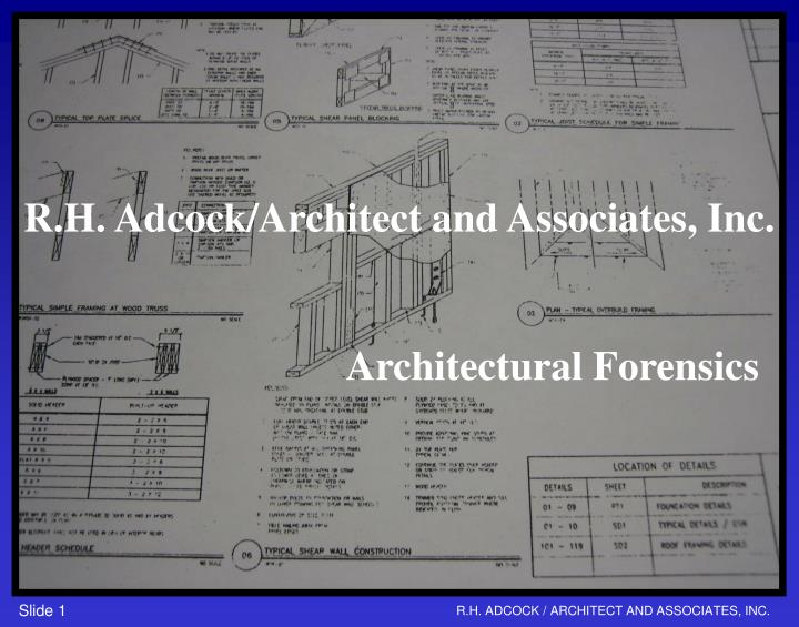 R.H. Adcock/Architect and Associates, Inc.