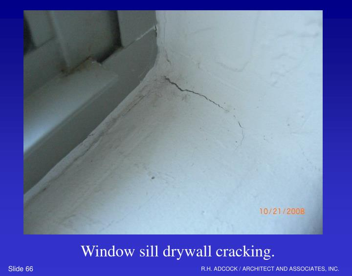 Window sill drywall cracking.