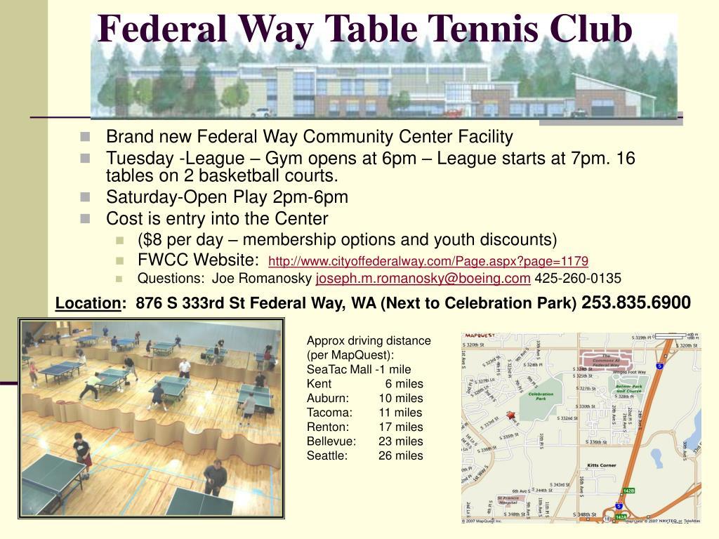 Federal Way Table Tennis Club
