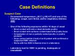 case definitions59