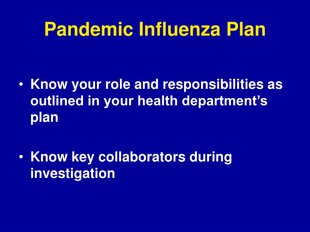 Pandemic Influenza Plan
