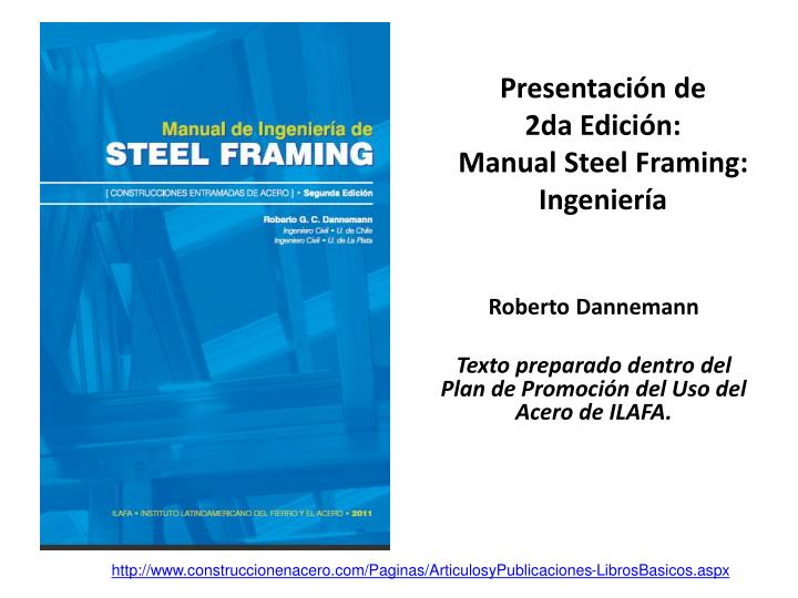 Presentaci n de 2da edici n manual steel framing ingenier a l.jpg