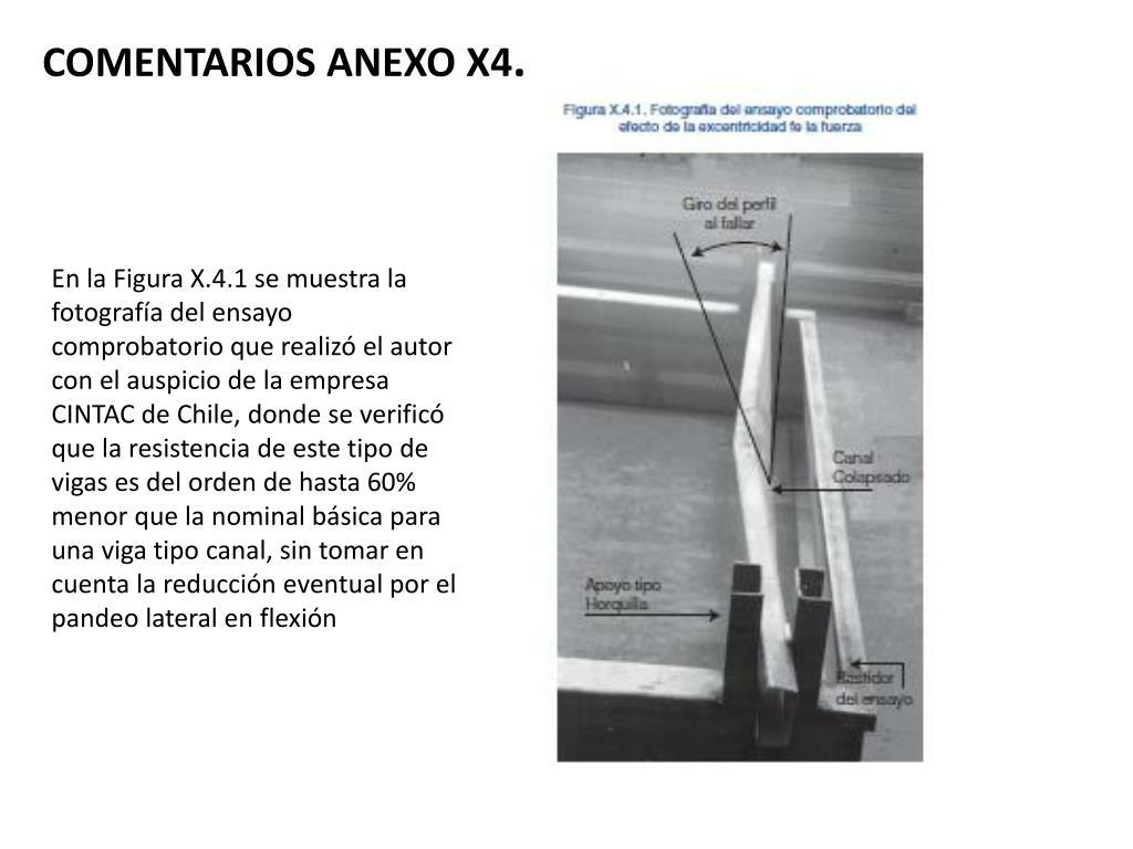 COMENTARIOS ANEXO X4
