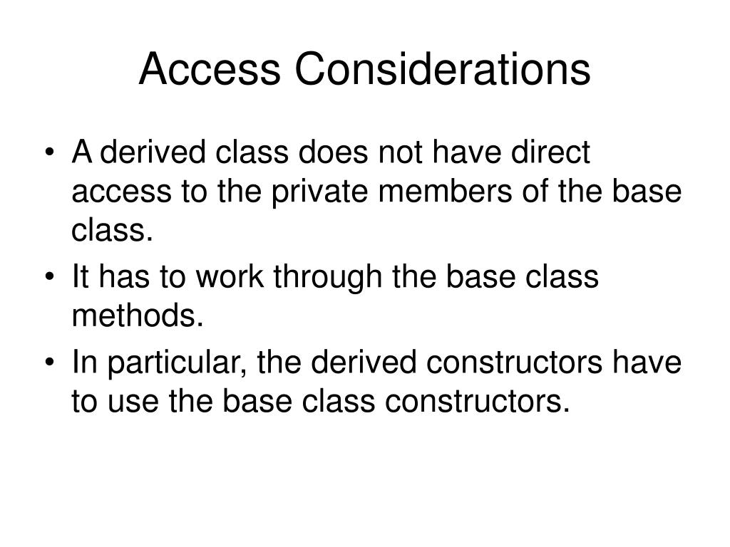 Access Considerations