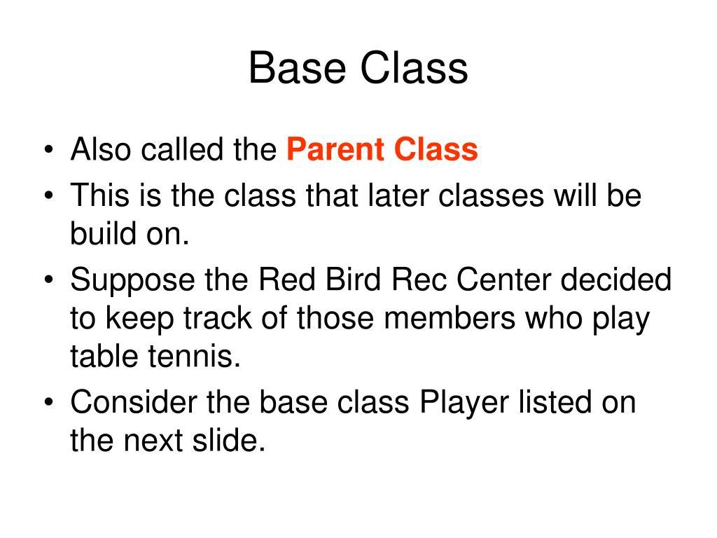 Base Class