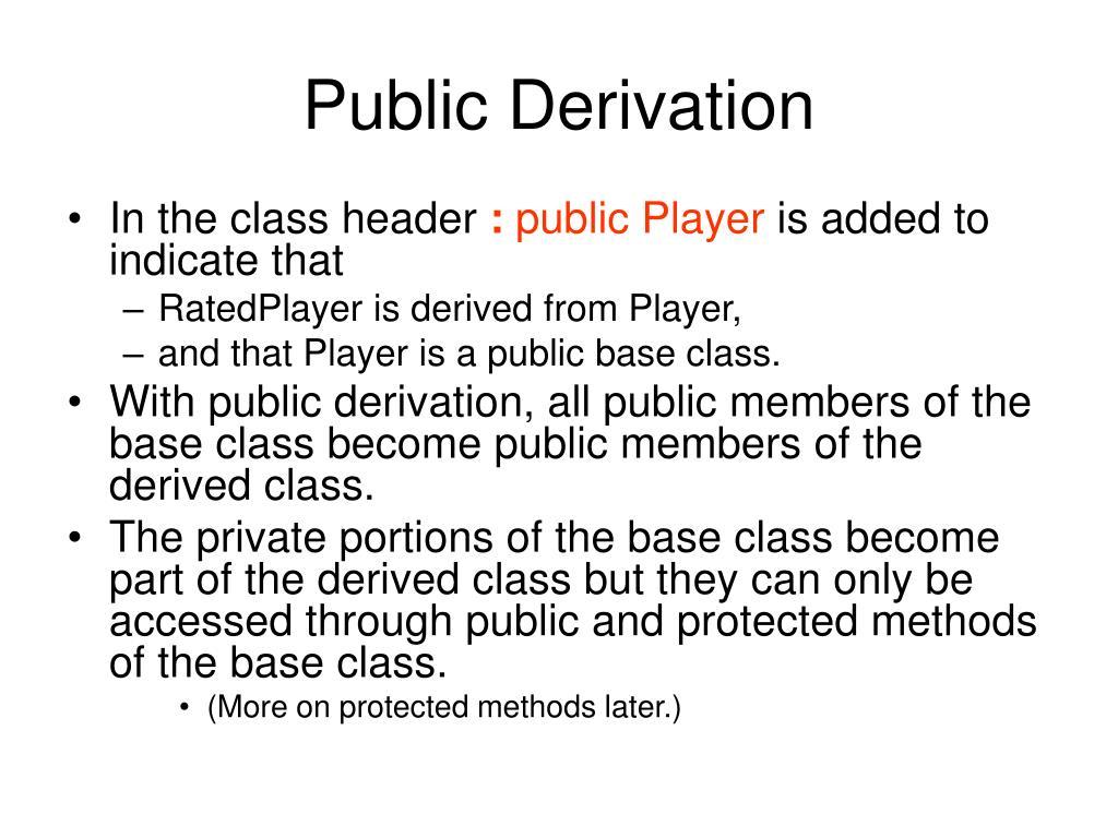 Public Derivation