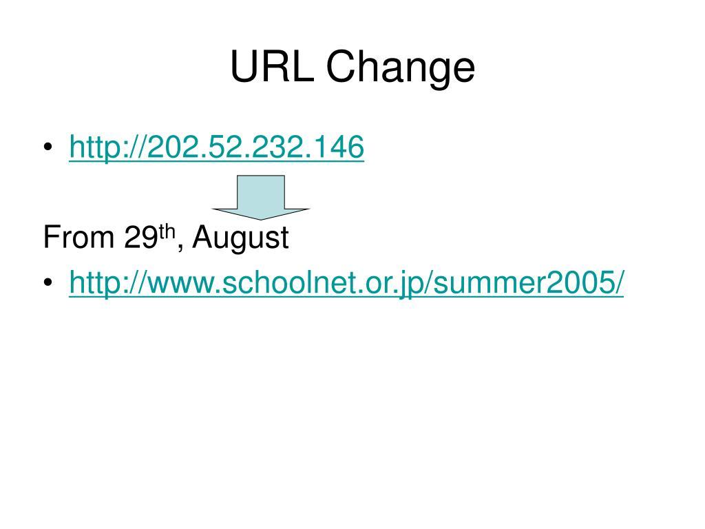 URL Change