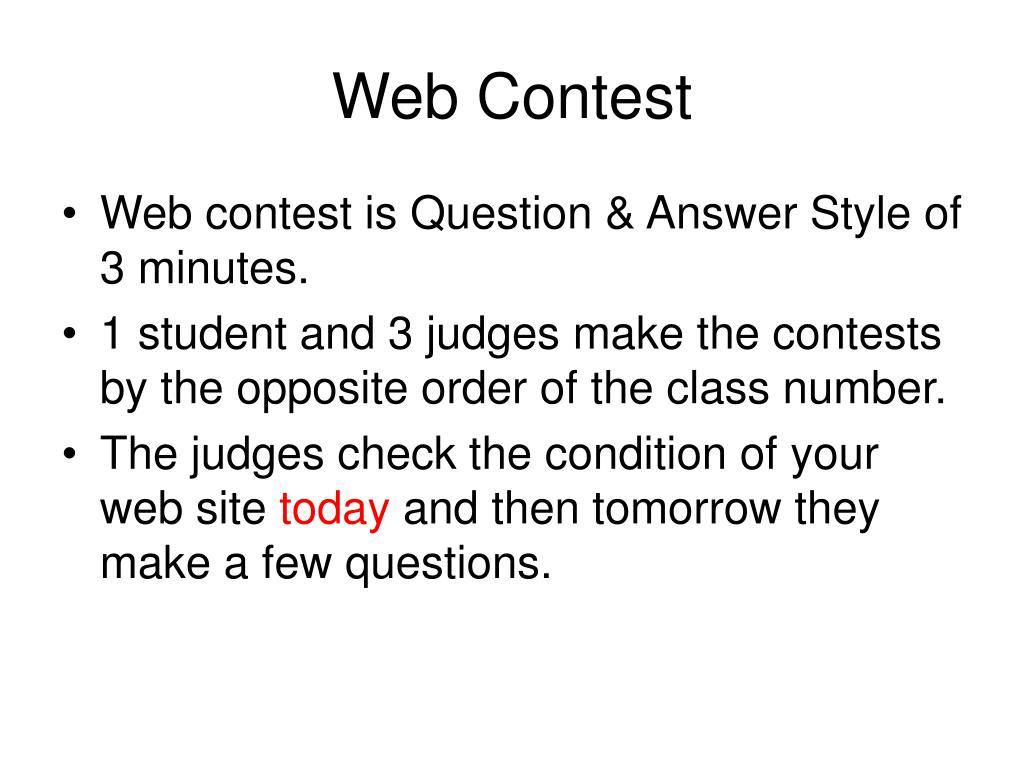 Web Contest