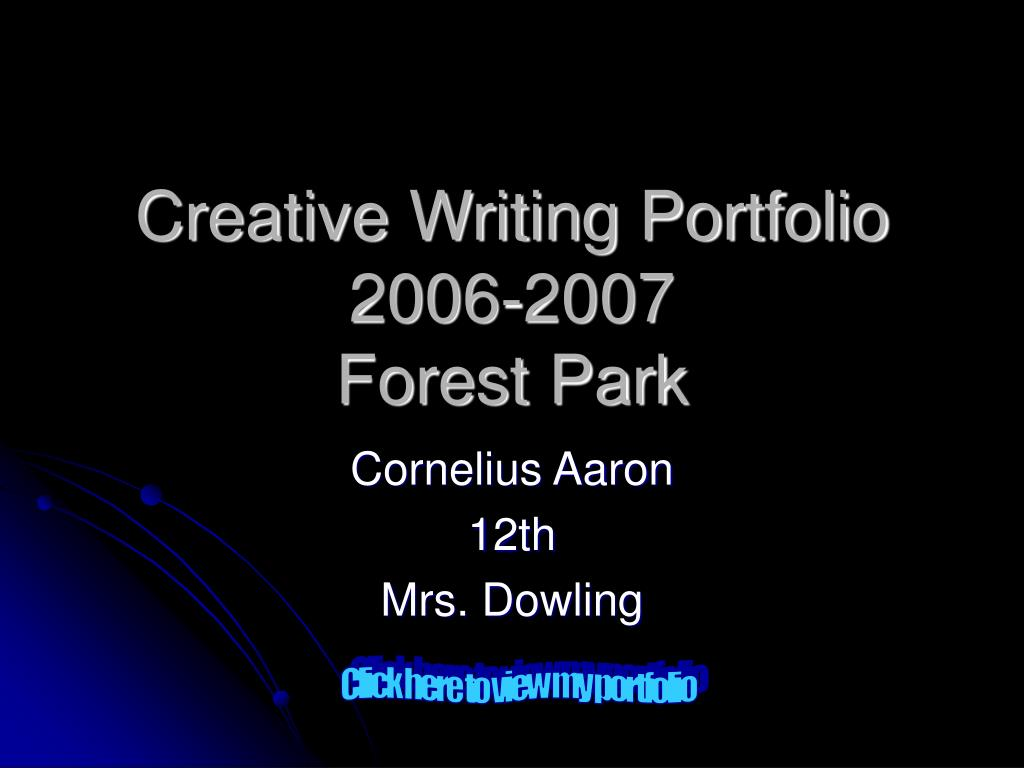 creative writing portfolio 2006 2007 forest park