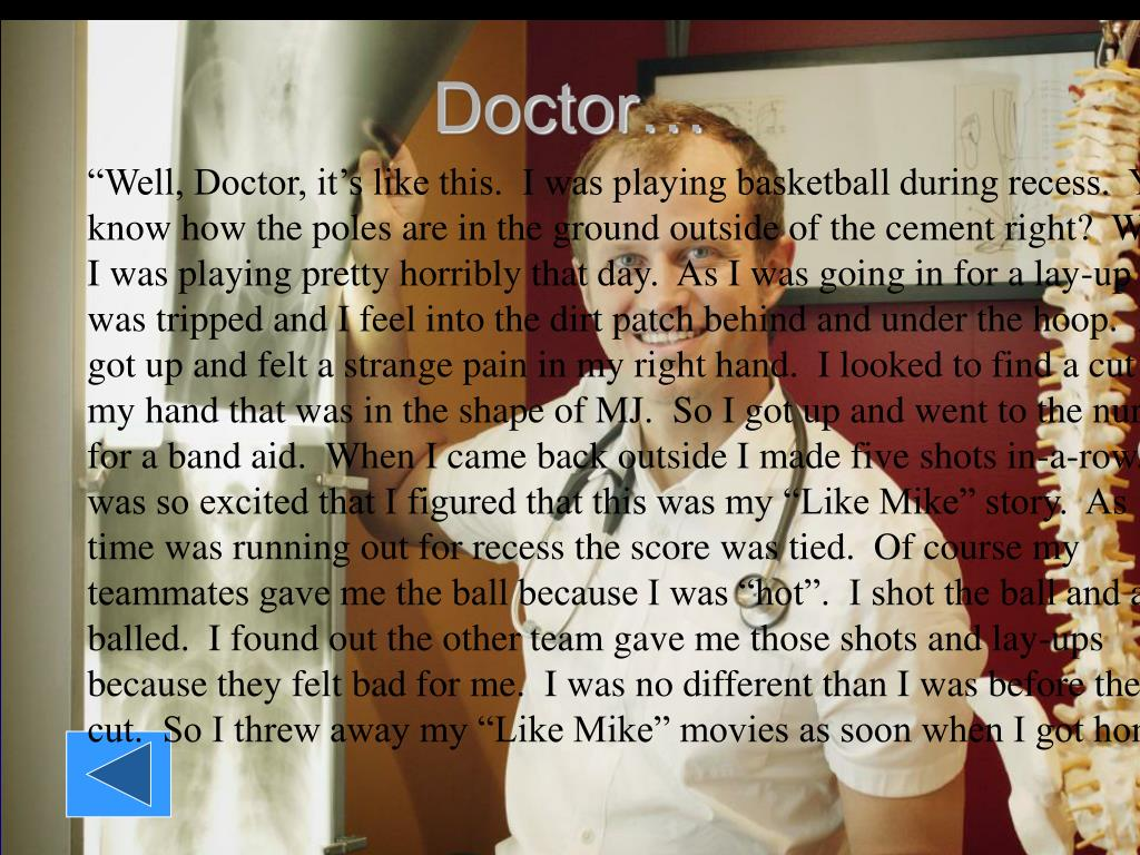 Doctor…