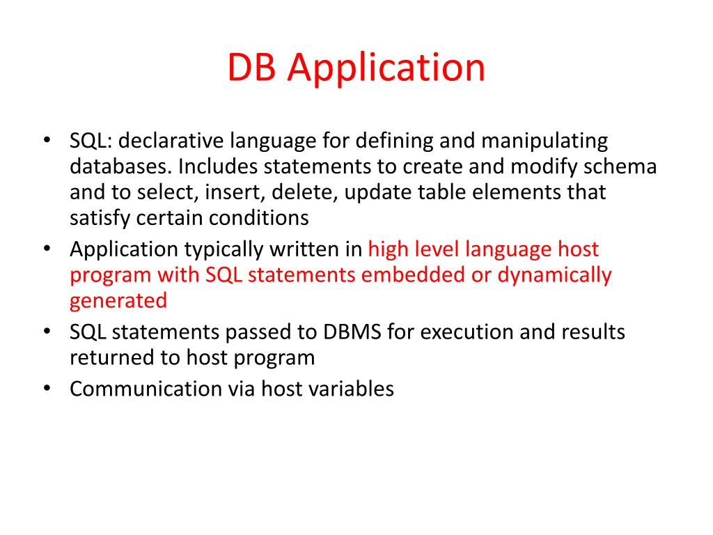 DB Application