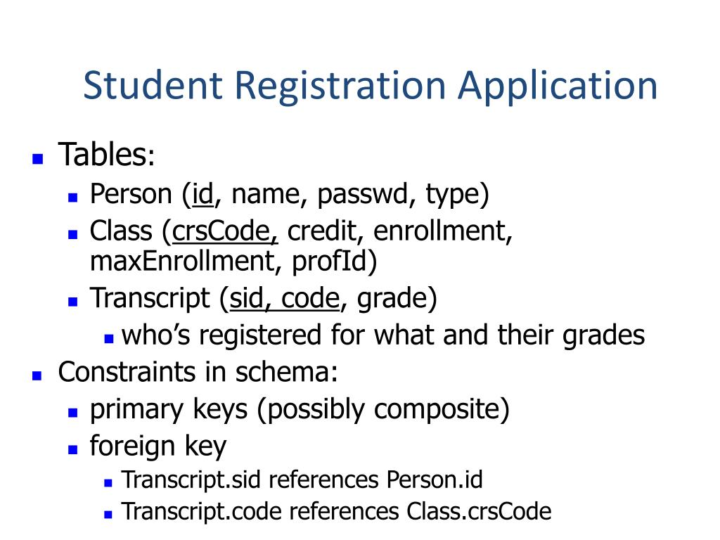Student Registration Application