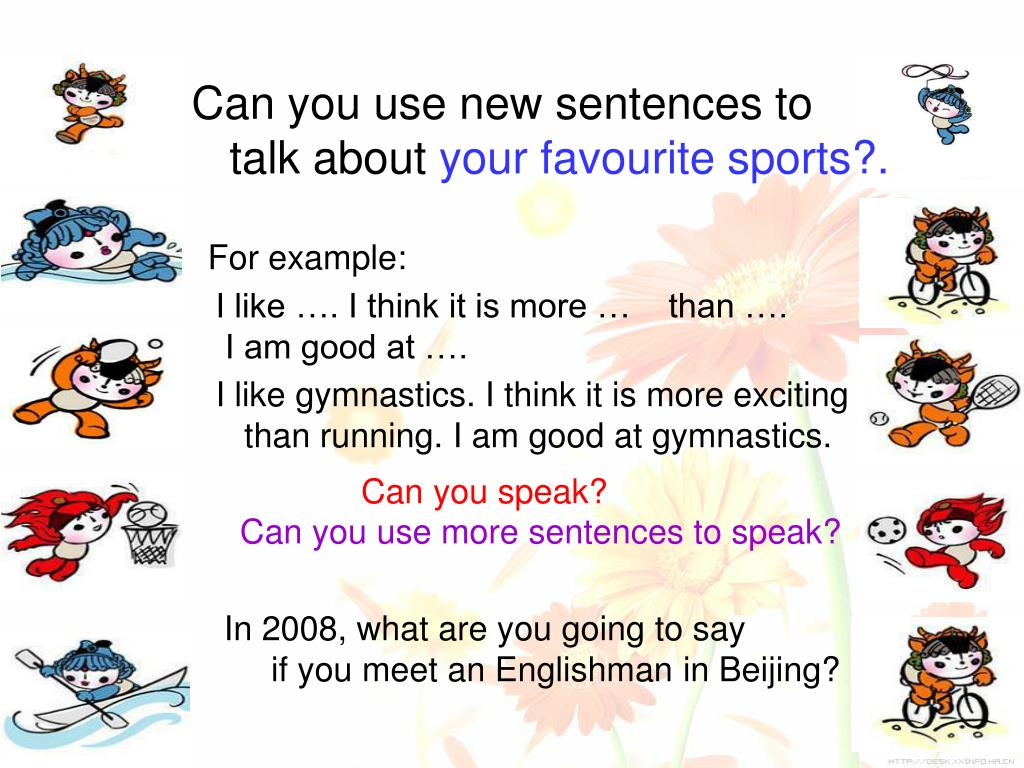 Can you use new sentences to