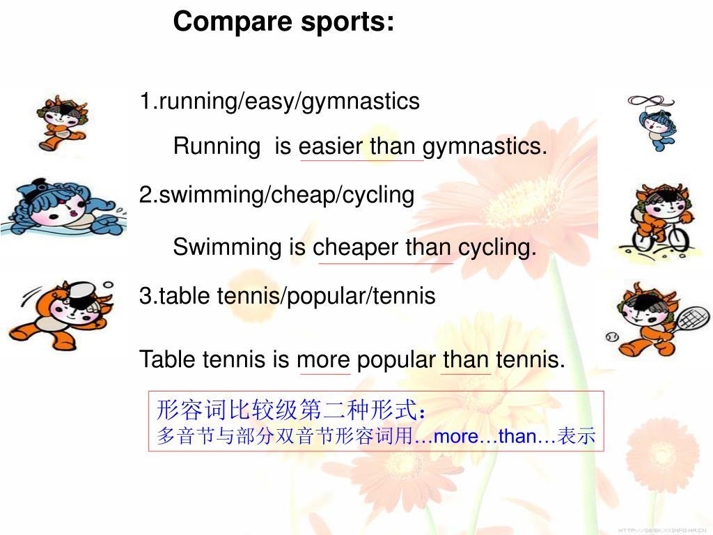 Compare sports: