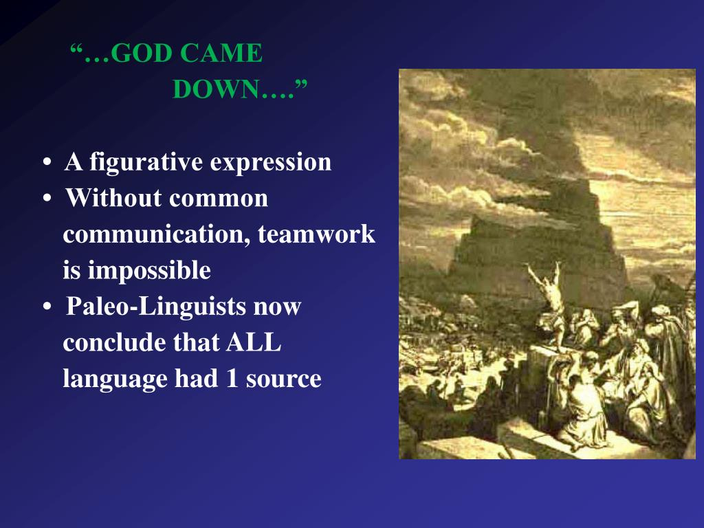 """""""…GOD CAME"""