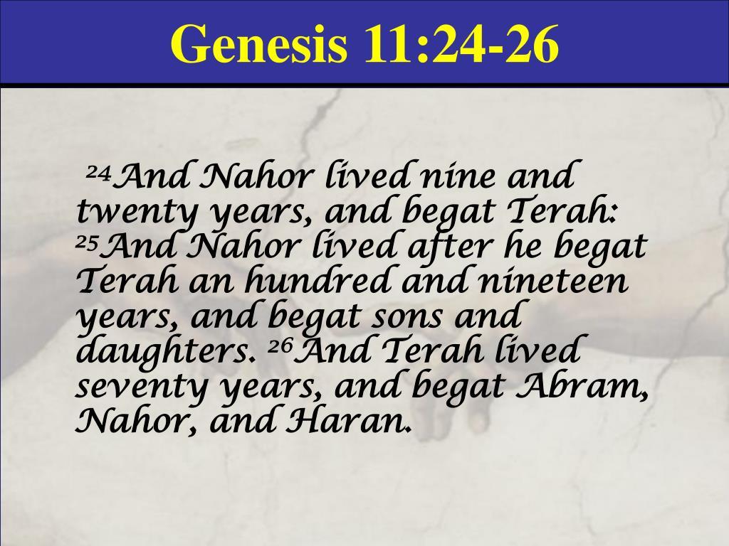 Genesis 11:24-26