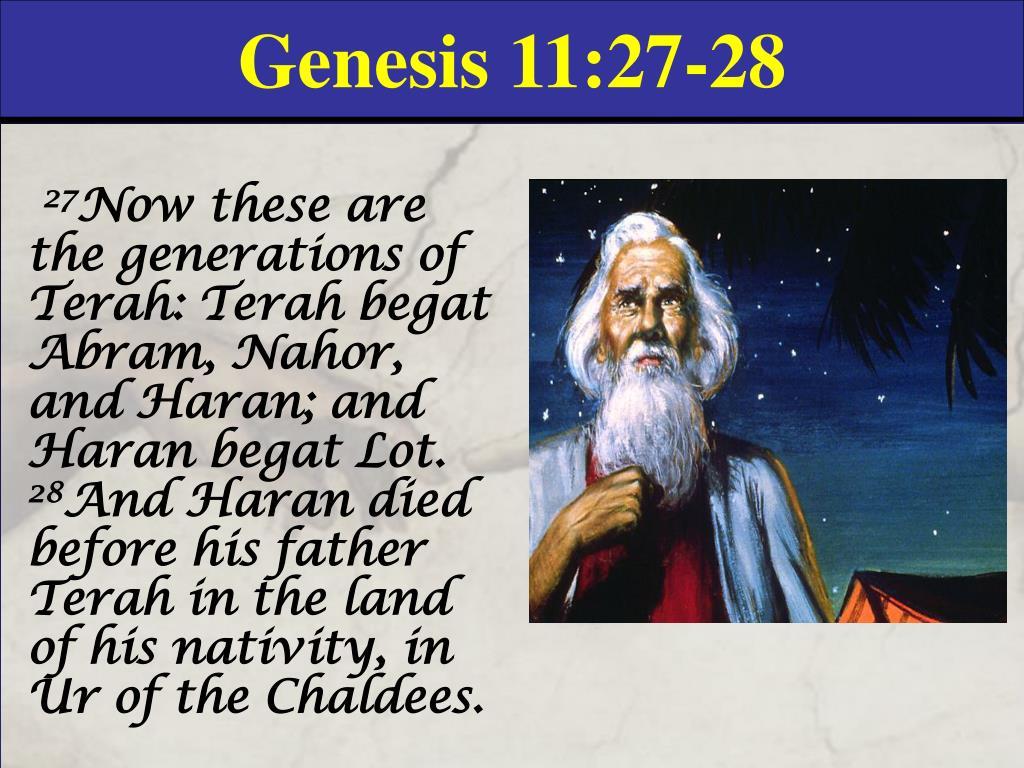 Genesis 11:27-28